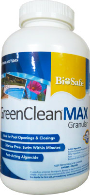 GreenCleanMAX® Pool and Spa Algae Control Treatment - 15LB - Click Image to Close