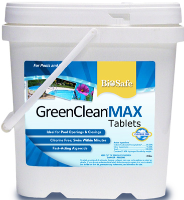 GreenCleanMAX® Pool and Spa Algae Control Treatment - 8LB - Click Image to Close