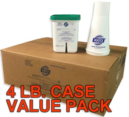 Case of 12 RootX 4 Lb. Foaming Root Killer